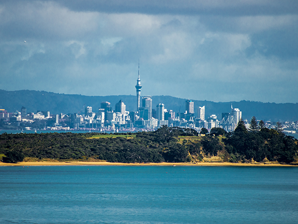 Auckland view from waiheke Island