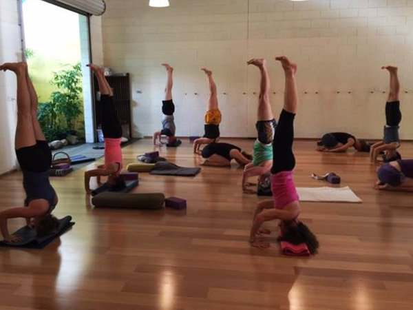 Yoga class at Darwin Yoga Space