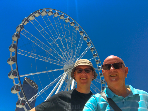 Andrew and Christopher at the Southbank Ferris Wheel Brisbane