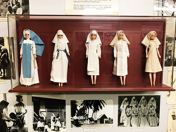 Barbie Doll Nuns Display in Tiwi Islands Museum