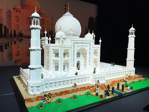 Taj Mahal model made from Lego bricks