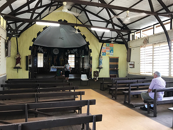 View from Pews in Catholic Church Tiwi Islands