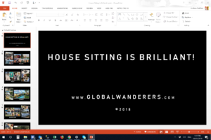 House Sitting is Brilliant Powerpoint Video Design Process