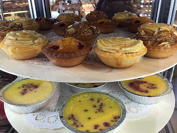 French pasteries at Chateaubriant Cafe and Bakery Devonport New Zealand