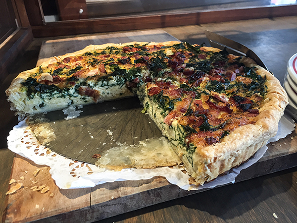 Quiche from Chateaubriant Cafe and Bakery Devonport New Zealand