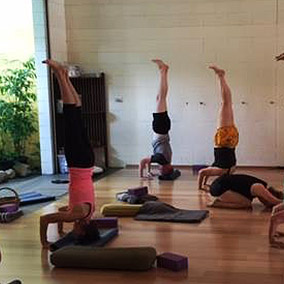 Andrew in Headstand in Darwin