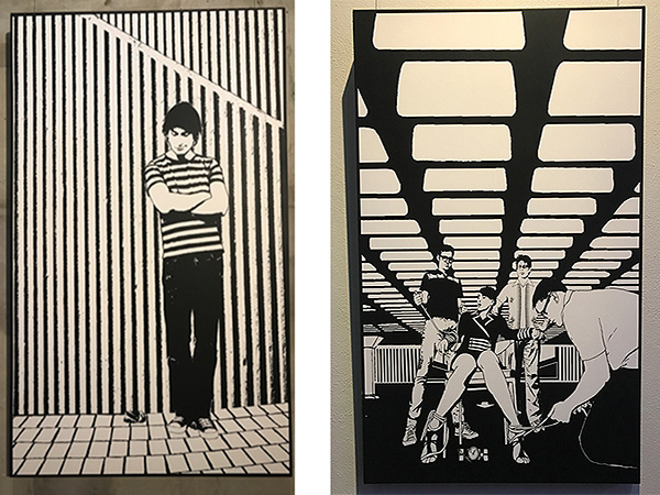 Two Black and White artwork at the Powerhouse Brisbane