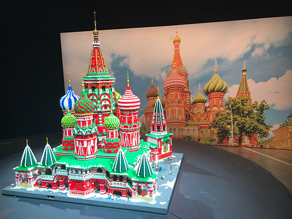 St Basils Cathedral Moscow made of logo bricks