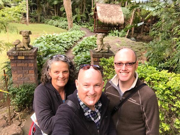 Jenny Christopher Andrew Mt Tamborine Botanic Gardens