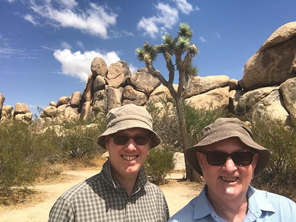 Andrew and Christopher at Joshua Tree NP