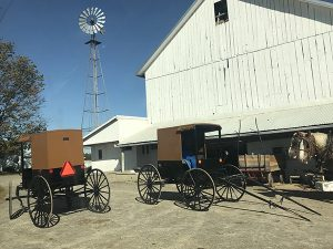 Amish horse wagons in Pennsylvania