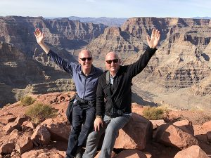 Andrew and Christopher at Grand Canyon